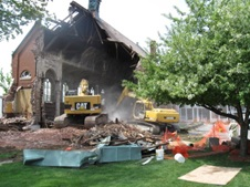 image of demolition of a building