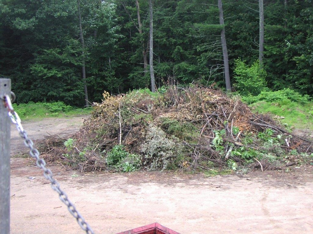 image of brush pile, legal to burn