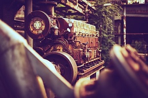 image of an old diesel engine